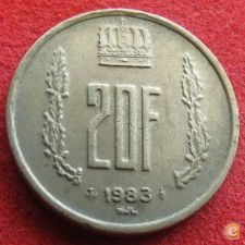 Luxemburgo 20 francs 1983 KM# 58 Luxembourg