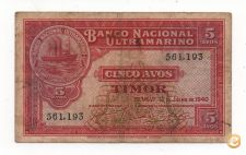 TIMOR PORTUGAL 5 AVOS 1940 PICK 12 VER SCANS