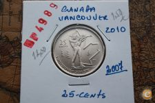 25-Centimes_CANADA_2007_( VANCOUVER-2010 )     A/R= [ 4989]