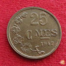 Luxemburgo 25 centimes 1947 KM# 45 Luxembourg   *V