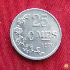 Luxemburgo 25 centimes 1970 KM# 45a.1 Lt 278 Luxembourg