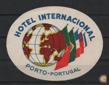 ANTIGO ROTULO LABEL HOTEL INTERNACIONAL PORTO